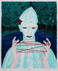 Alice Kaira, 'Naruleikki' Finnish Women, Helene Schjerfbeck, Primitive Painting, Jokers, Outsider Art, Modernism, Naive, Clowns, Finland