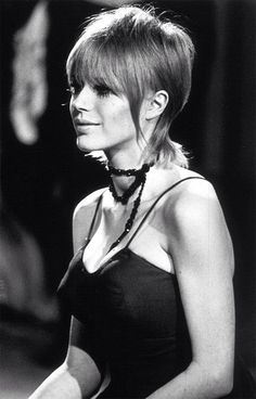 Marianne Faithfull on stage at The Rolling Stones' Rock And Roll Circus Short Hair Dont Care, Short Hair Styles, Hair Inspo, Hair Inspiration, Skinhead Girl, Marianne Faithfull, Charlotte Rampling, Grunge Hair, Alexa Chung