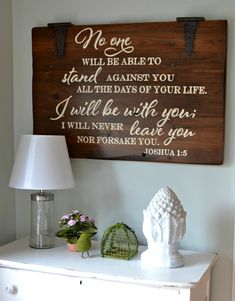 I will be with you // wood sign by Aimee Weaver Designs