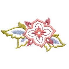 Free Embroidery Design: Dazzling Flower