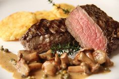 V kuchyni vždy otevřeno .: Jelení steak s liškami Steak, Beef, Meat, Steaks