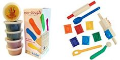 Eco-kids Eco-dough (5 Containers of 4oz) and Clay Tool Set (14 Pieces)