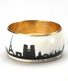 Take a look at this White Paris Skyline Bangle by ZAD on #zulily today!