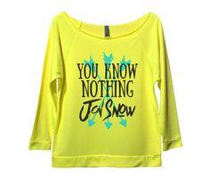 You Know Nothing Jon Snow Womens 3/4 Long Sleeve Vintage Raw Edge Shirt
