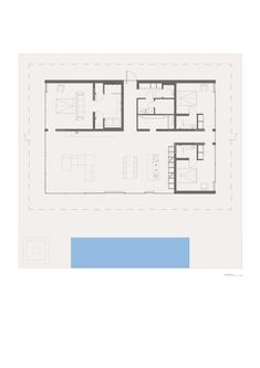 Floor Plan Love it Add basement laundry or do a garage with laundry room also have 45 degree roof and add loft spaces for office and play area for kids Beach House Plans, House Floor Plans, Villas, Square House Plans, 3 Bedroom Floor Plan, Earthship Home, Scandinavian Architecture, Modern Bungalow, Architecture Plan