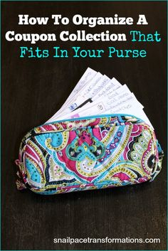 Ditch the big clunky coupon organizer and condense in to something like this! Via Snail Pace Transformations