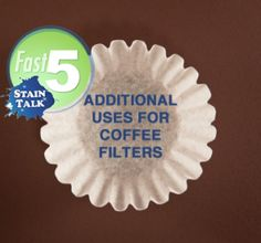 Additional uses for coffee filters - bought a whole pack for a craft project and needed some ideas of other ways I can use them!