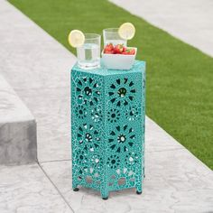 Shop Eliana Outdoor 12-inch Side Table by Christopher Knight Home - On Sale - Overstock - 17620788