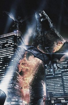 Godzilla vs. Gyaos - Godzilla Gallery. This is so epic!