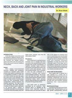 #DrKiranShete's article on #BackPain in Magazine