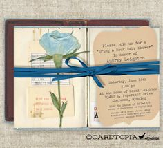 Bring A Book BABY SHOWER Invitations Build A Library Boy Rose Digital Printable Personalized - 89711487. $13.50, via Etsy.