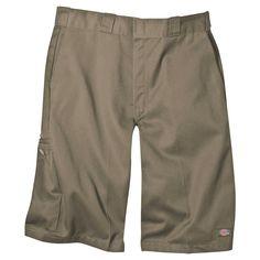 Dickies Men's Big & Tall Loose Fit Twill 13 Multi-Pocket Work Short- Khaki (Green) 52