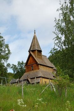 The Urnes stave church, a World heritage site in Sogn og Fjordane county, Norway.
