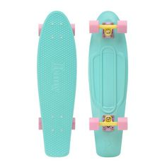 "Penny Nickel 27"" Pastels Mint Blue/Lilac-Yellow/Lilac Mini Longboard Complete"