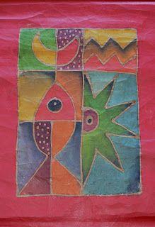 Batik, artesanía, regalos, Pintura en tela,artesana,envío a domicilio,exposición, Claudia: Batiks en papel