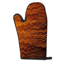Colorful lightwave abstract texture Oven Mitt> Abstract light wave texture> Victory Ink Tshirts and Gifts