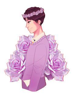Dan with a flower crown>>> Pretty *^*