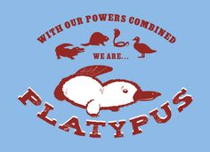 The platypus. It has long been one of my favorite animals. It is so bizarre, as if an actual Pokemon. I always thought some deranged beaver got frisky with a duck long ago... who knows? God knows. This shirt adds two more creatures to the equation. Enlightening! $19.95 #platypus #SnorgTees