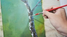 Learn How to Paint a Tree Trunk - Acrylic Painting Lesson by JM Lisondra