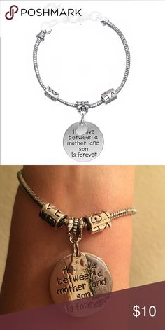 Mother/Son Love Charm Bracelet Alex and Ani Style Amazing bracelet, perfect gift Sterling Silver Adjustable Firm Price Remember rate item quickly, please Jewelry Bracelets