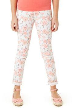 Cotton Rich Floral Jeggings