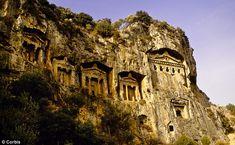 Lycian tombs, near Dalyan, Turkey.