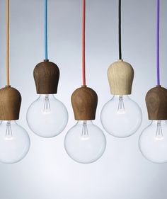 Bright Sprout is a wooden fixture designed to hide the light bulb sockets on energy saving bulbs.
