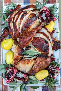 The perfect apple cider brined roast turkey with garlic herb butter makes a beautiful centerpiece to your Thanksgiving table. Turkey Recipes, Lunch Recipes, Easy Dinner Recipes, Clean Eating Recipes, Cooking Recipes, Healthy Recipes, Delicious Recipes, Thanksgiving Recipes, Fall Recipes
