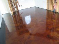 Acid stained concrete floor - need to find a company that can do this.  LOVE!