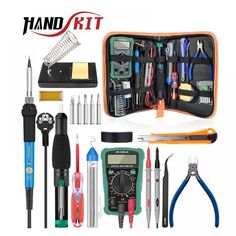 / Electronic Maintenance Tools Set Soldering Iron Tip Metal Spudger Pliers Tweezers Digital Multimeter Repair Tool Kit Welding Equipment, Welding Tools, Welding Projects, Diy Welding, Welding Ideas, Welding Crafts, Metal Welding, Metal Projects, Diy Projects