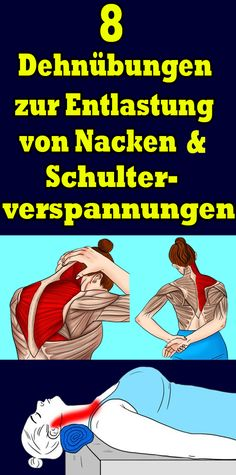 8 stretching exercises to relieve neck and shoulder tension Fitness Workouts, Sport Fitness, Fun Workouts, Yoga Fitness, At Home Workouts, Health Fitness, Sport Motivation, Fitness Motivation, Shoulder Tension