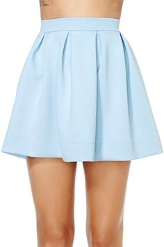 Scuba Skater Skirt - Blue at Nasty Gal