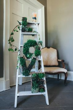 Yes to these adorable LOVE planters!  Use faux succulents and greenery and you could keep this long after your wedding.  Shop Afloral.com.