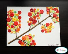 This Fall Button Branch is such an adorable fall art project!