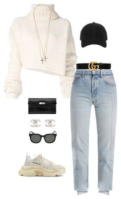 """+"" by maxxxus ❤ liked on Polyvore featuring Ann Demeulemeester, Vetements, Balenciaga, rag & bone, Dsquared2 and Gucci"