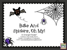 FREE bats and spiders informational emergent reader