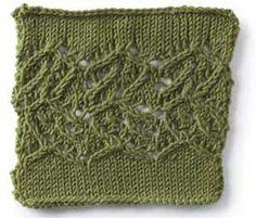 Free Knitting Stitch Gallery : Stag Lace Knitting Pattern Craftiness! Pinterest Lace knitting patterns...