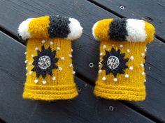 . Crochet Mittens, Knitted Hats, Knit Crochet, Wool Embroidery, Wrist Warmers, Mitten Gloves, Knitting Yarn, Twine, Fingerless Gloves