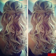 Half Up Curls - Hairstyles and Beauty Tips