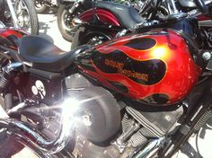 Harley Davidson with Iron Maiden font