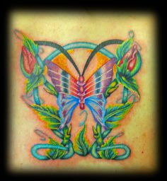 tattoo done by Peter! #centralbodyart #tbay #tbaytattoo #butterflytattoo #butterfly #tattoo #inked