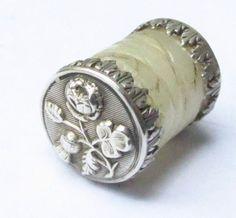 Silver Victorian Thread Waxer
