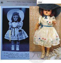 Ana Caldatto : Antiga Boneca década 40 da Estrela grafada Estrella com dois LL