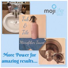 As you all know I love to try out different products. This morning I decided clean our shower & sink with our MojiLife Lavender Tub & Tile.  With our water being so hard I managed to take off all the water stains with no efforts at all using our MojiLife microfiber towel.  https://www.mojiproducts.com/minimomkay