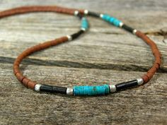 Mens Necklace Southwest Jewelry by StoneWearDesigns