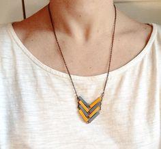 Long Necklaces – Chevron Necklace // MAYA // Minimal Jewelry – a unique product by Valentinolandia on DaWanda