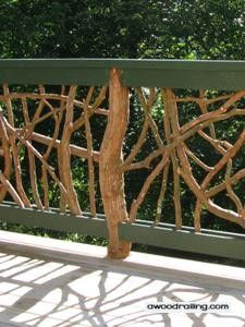 Deck Railings are Jewelry for a Home's Deck. This is THE Best Railing Design to Add Sparkle and Shine! Choose Rustic Wood Deck Railing Artistic Home Decor! Deck Railings, Stair Railing, Stairs, Railing Design, Patio Design, Railing Ideas, Wood Handrail, Log Cabin Living, Balustrades