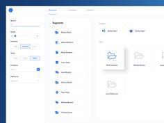 Segments dashboard UI designed by Pierluigi Giglio. Connect with them on Dribbble; Dashboard Ui, Dashboard Design, App Ui Design, User Interface Design, Flat Design, Enterprise Application, Diagram Design, Ui Design Inspiration, Ui Web