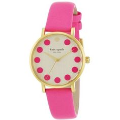 Kate Spade New York Gramercy Dot Goldtone Stainless Steel & Leather Strap Watch