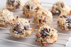 Mixed with chocolate chunks and pecans, these yummy coconut macaroons are so easy even a novice baker can pull them off. (Tip: They make great gifts!)